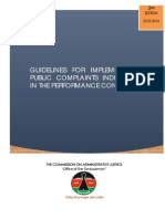 3rd Edition - Guidelines for the Resolution of Public Complaints Indicator for Financial Year 2013-2014