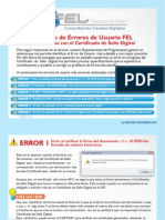 Errores Frecuentes de Usuario Fel Certificado Sello Digital 2a Edicion 110318