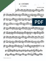 Wilhelm Wurm - 40 Trumpet Etudes