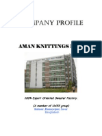 Aman Knittings Ltd 100% Export Oriented Sweater Factory
