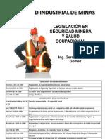 Legislación en Seguridad Minera y Salud Ocupacional