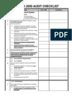 ISO9001 2000 Checklist