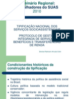 Tipificação Nacional de Serviços Socioassistenciais e Protocolo de Gestão