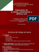 5- Elaboración de La Tesis y Presentación