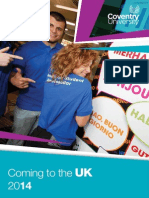Coming to the UK Guide for EU Students - September 2014