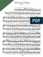 Ballade No 2 in F, Op 38