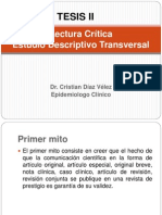 LC Descriptivo Transversal. Teoria