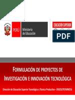 Proceso de Formulación de Proyectos de IIT