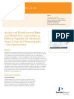 April - Petrochemical - Analysis and Identification of Fatty Acid Methyl Ester Composition in Different Vegetable Oil (Biodiesel) Source Using GCMS