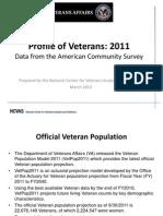 Profile of Veterans 2011