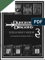 D&D - 3.5 - Devir - Accesorio Gratuito de Actualización a D&D v3.5 (Dragon Nº 3)