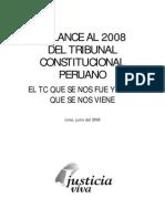 Tribunal Constitucional Balance