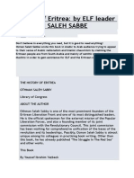 History of Eritrea by Osman Saleh Sabe