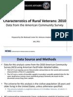 Rural Veterans ACS2010 FINAL