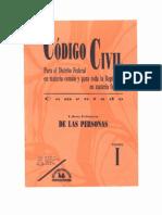 Tomo i - Libro Primero - De Las Personas - PDF