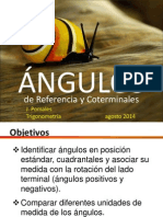 TEMA 11 Angulos de Referencia y Coterminales 2014