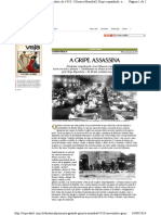VEJA Primeira Guerra Gripe Espanhola