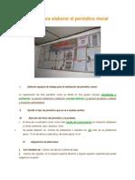 Pasos Para Elaborar El Periódico Mural