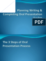 Planning Writing Oral Presentation