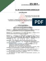 Ley 23551-88 Ley Asociaciones Sindicales
