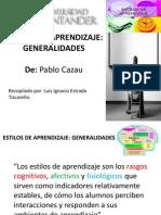 Estilos de Aprendizaje-generalidades Pablo Cazau