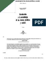 Introducciona a La Metodologia de Las Ciencias Juridicas y Sociales
