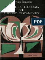 Zimmerli Manual de Teologia Del Antiguo Testamento