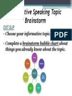 informative topic brainstorm ppt
