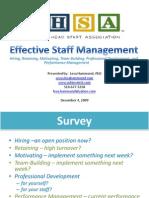 Head Start ~ Effective Staff Management