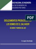 Deslizamientos Producidos Por Los Sismos de El Salvador