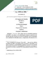 Código de Infancia y Adolescencia Ley 1098 de 2006.