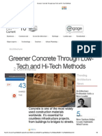 Greener Concrete Through Low-Tech and Hi-Tech Methods