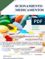 Acondicionamiento de Los Medicamentos Exposición Jul2014