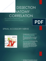 Neck Dissection Anatomy Correlation