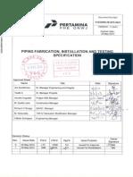 PHEONWJ-M-SPE-0021~1 Piping Fabrication & Installation