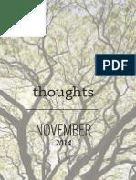 Gratitude for Inspiration / November 2014