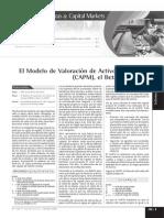 Valoracion de Activos CAPM Beta y El WACC