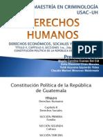 Constitución Derechos Económicos Sociales y Culturales