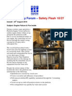 Safety-flash Engine Fire