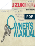 TVS-Suzuki AX100R Owner's Manual