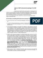 SAP EHp3 First Steps