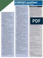 2014 Quick Sheet
