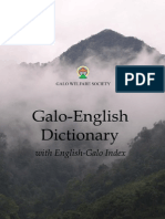 Galo-English Dictionary (International Edition)