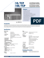 Advantech ADAM 5510 TCP BE Datasheet