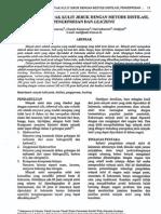 Ekstraksi Minyak Kulit Jeruk Dengan Metode Destilasi Pengepresan Dan Leaching