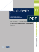 Information Builders in the Bi Survey 13