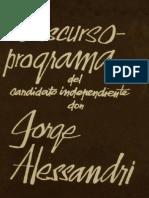 26961340 Discurso Programa Del Candidato Independiente Don Jorge Alessandri Rodriguez