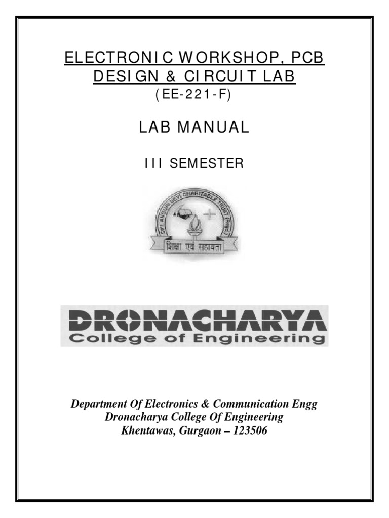design of electronic circuits lab report