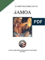 Peace Corps 2014  Samoa Welcome Book