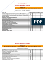 Operations and Maintenance Preventive Maintenance Checklists